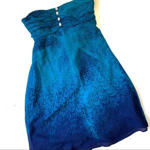 Free People Blue Ombre Seashell Tube Top Dress